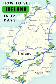 Ultimate Irish Road Trip Guide: How To See Ireland In 12 days READ Where to go? What to see? What to eat? Everything you need to know to explore beautiful Ireland in 12 days by car.Trip Trip may refer to: Oh The Places You'll Go, Places To Travel, Travel Destinations, Ireland Vacation, Ireland Travel, Ireland Food, Ireland Facts, Greece Vacation, Cork Ireland