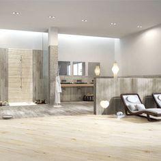 Couleur Carreau - Serenissima vintage bianco et grigio Imitation Parquet, Wood Look Tile, Porcelain Tiles, Vintage, Table, Furniture, Design, Home Decor, Tile
