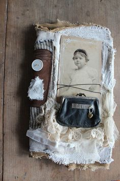 .So charming!  Love the lace, the vintage coin purse, and the photo itself is so adorable!