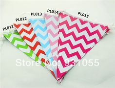 Free Shipping 20 PCS Chevron Party Paper Pennant Banner  Triangular Flag For Birthday Party Wedding Decoration $60.00