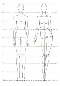 Fashion Illustration Templates Front And Back
