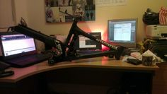My Commencal Meta 5.5 (2011) carbon frame... I can't wait to get this beast fully built