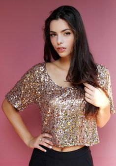 Bling Sequined Crop top ❤️❤️