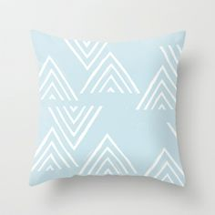 The Mountain Top - in Sky Throw Pillow by Amber Barkley - $20.00