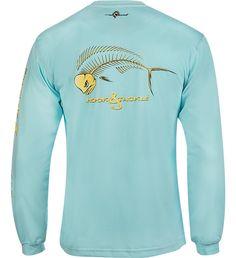 Men's Bull Dolphin X-Ray L/S UV Fishing T-Shirt