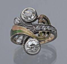 Image result for art nouveau rings