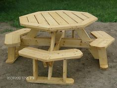 Octagon Picnic Table Plans  Easy To Do!