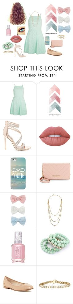 """""""Dressy!"""" by pibbgirl13 on Polyvore featuring New Look, Steve Madden, Lime Crime, Casetify, Karl Lagerfeld, Decree, Tory Burch, Essie, Via Spiga and Nadri"""