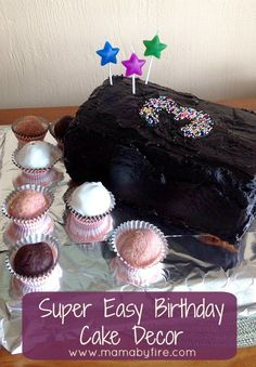 Easy Birthday Cake decor! (scheduled via http://www.tailwindapp.com?utm_source=pinterest&utm_medium=twpin&utm_content=post58680838&utm_campaign=scheduler_attribution)