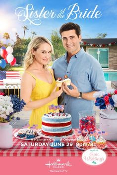 Its a Wonderful Movie - Your Guide to Family and Christmas Movies on TV: Sister of the Bride - a Hallmark Channel Movie starring Becca Tobin, Ryan Rottman, Michael Gross & Beth Broderick!  Keeping you up-to-date on the next BIG & UPCOMING movie releases! Family Christmas Movies, Hallmark Christmas Movies, Hallmark Movies, Family Movies, Holiday Movies, Abc Family, July 4th Wedding, Becca Tobin, Hallmark Holidays
