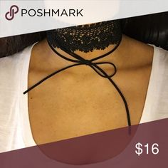 Lace and Tie Choker Thick laced choker with tie on bottom. Brand new with tags! Ashlee Natalia Jewelry Necklaces