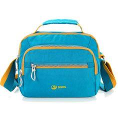 Sale 10% (21.91$) - Lightweight Waterproof Nylon Top Handle Handbag Outdoor Travel Shoulder Bags Crossbody Bags