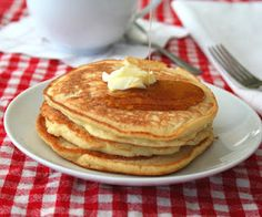 Really proud of these fluffy Coconut Flour Pancakes!  Low Carb and Gluten Free