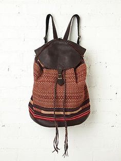Akha Thai Backpack from Free People - $458.00  I am wondering if any of this money goes to the tribe.