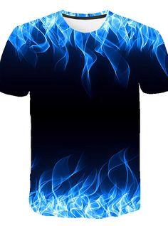 Blue Flaming tshirt Men Women T-Shirt t-shirt Black Tee Casual Top Anime Camiseta Streatwear Short Sleeve Tshirt Asian size ZOOTOP BEAR Blue Flaming Men Women t shirt t-shirt Black Tee Casual Short Men's Clothing T Shirt 3d, 3d T Shirts, T Shirts For Women, Shirt Men, Dress Shirts, Casual Tops, Casual Shirts, Tee Shirt Homme, Herren T Shirt