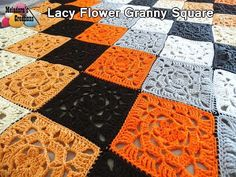 This free crochet pattern teaches you to crochet this Lacy Flower Granny Square. This granny square is a great way to start a crocheted lacy afghan for the fall.