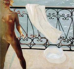 On the balcony, 1931. Aleksandr Deyneka