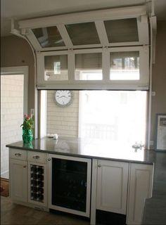 Interior view of garage door kitchen