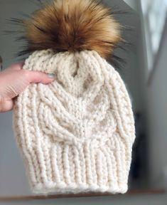 Beanie Knitting Patterns Free, Knit Beanie Pattern, Loom Knitting, Free Knitting, Knitted Headband Pattern, Chunky Hat Pattern, Knit Beanie Hat, Knit Patterns, Lion Brand Wool Ease