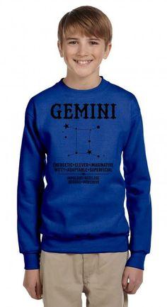 Gemini Zodiac Sign Youth Sweatshirt