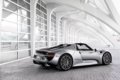 Porsche's 918 Spyder boasts an advanced hybrid drive system wrapped in bold supercar looks.