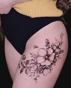 Anemon Flowers Tattoo