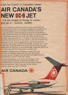 Air Canada DC-9 - 1960's