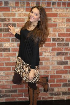Cute little Black Tunic with leopard print    Light Weight enough to be worn all year round    Long Sleeve | Shop this product here: http://spreesy.com/Ohhmy/54 | Shop all of our products at http://spreesy.com/Ohhmy    | Pinterest selling powered by Spreesy.com