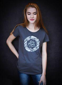 Take Flight - Ethical Organic Cotton Modal 'Drape' Women's T-Shirt   i61clothing