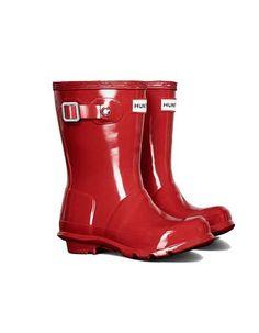 Botas Hunter Original  en rojo gloss los más pequeños. #Hunter #Katiuskas #BotasdeAgua #CalzadoNiños