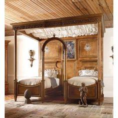 Habersham Biltmore Cornelia's Cloister Canopy Bed Accent: Gold, Color: Connoisseur/Tricorn Black