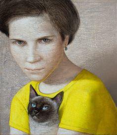 VLADIMIR DUNJIC * Serbia * 1957 * http://vladimirdunjic.com/ **  portrait ~ cat