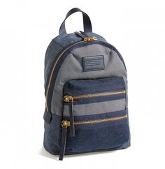 Marc by Marc Jacobs 'Mini Domo Arigato Packrat' Backpack - ShopStyle ShopStyle is where fashion happens. Find the latest couture and fashion designers while shopping for clothes, shoes, jewelry, wedding dresses and more! Backpack Craft, Chic Backpack, Denim Backpack, Denim Bag, Backpack Bags, Fashion Backpack, Backpack Outfit, Diaper Backpack, Travel Backpack