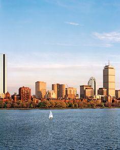 Boston, Massachusetts in the sunlight.