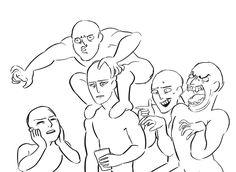 Left to Right: Garona, Gul'dan, Teron'gor (on Gul'dan's shoulders), Cho'Gall (both heads)