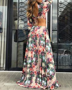 Boho Summer Dresses, Summer Dresses For Women, Boho Dress, Sexy Dresses, Fashion Dresses, Long Dresses, Trend Fashion, Look Fashion, Maxis