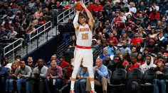 #NBA   ATLANTA, GA - NOVEMBER 16:  Kyle Korver #26 of the Atlanta Hawks shoots a three-point basket against the Milwaukee Bucks at Philips Arena on November 16, 2016 in Atlanta, Georgia.  NOTE TO USER User expressly acknowledges and agrees that, by downloading and or using this photograph, user is consenting to the terms and conditions of the Getty Images License Agreement.  (Photo by Kevin C. Cox/Getty Images)