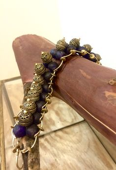 A personal favorite from my Etsy shop https://www.etsy.com/listing/266088704/baroness-bali-royal-blue-bracelet