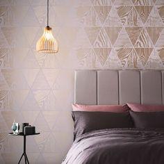 Geo Grain Blush & Rose Gold Wallpaper