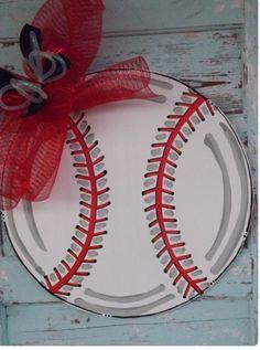 Baseball Door Hanger, Summer Door Hanger, Spring Door Hanger, Baseball Wreath, S… Baseball Wreaths, Baseball Crafts, Baseball Mom, Baseball Players, Softball Wreath, Baseball Snacks, Baseball Girlfriend, Baseball Quotes, Baseball Birthday
