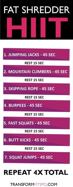 Fat shredder HIIT fitness workout exercise weight loss Fat shredder HIIT fitness workout exercise weight loss HIIT Full Body Workout Hiit Workouts at HomeHIIT Workouts For Beginne Fitness Workouts, Sport Fitness, Fitness Tips, Fitness Motivation, Health Fitness, Cardio Workouts, Women's Health, Workout Diet, Yoga Fitness