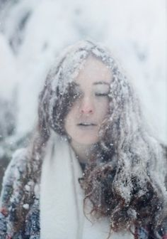 Her hair was frozen stiff, the very air she breathed froze. Death followed her every move until there was nothing to do but collapse on the cold ground, surrounded by the falling snow.