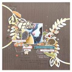 Simple Stories & JustNick Team Up - layout from creative team member Chantalle McDaniel using our Hello Fall collection