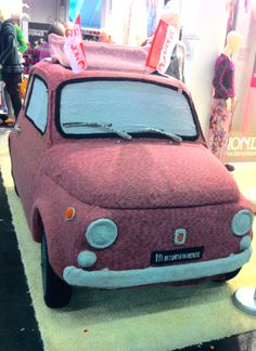 knitted car, h+h cologne 2014
