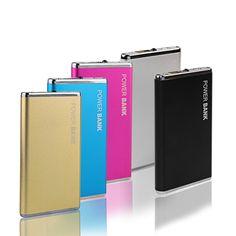 DCAE Nieuwe Power Bank 5600 mAh Draagbare Metalen Case Li-Polymeer Externe Batterij Oplader Powerbank Voor Alle Telefoon