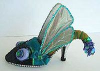 Robert Tabor Shoe Sculptures - I wonder whether something like this could be done in quilling? Hmmmm.