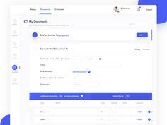Invoice Dashboard by Rostislav on Dribbble Dashboard Interface, Web Dashboard, Ui Web, Dashboard Design, Ui Ux Design, Interface Design, Flat Design, Login Page Design, App Design Inspiration