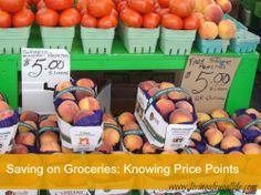 Saving on Groceries by Knowing Your Price Points