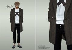 Coat outwear accessory for both genders by MissDuo - Sims 3 Downloads CC Caboodle