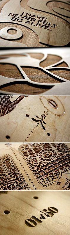 great wood design cutouts with cnc routers Cnc Laser, Laser Cut Wood, Laser Cutting, Digital Fabrication, Environmental Graphics, Dremel, Wood Design, Laser Engraving, Wood Art